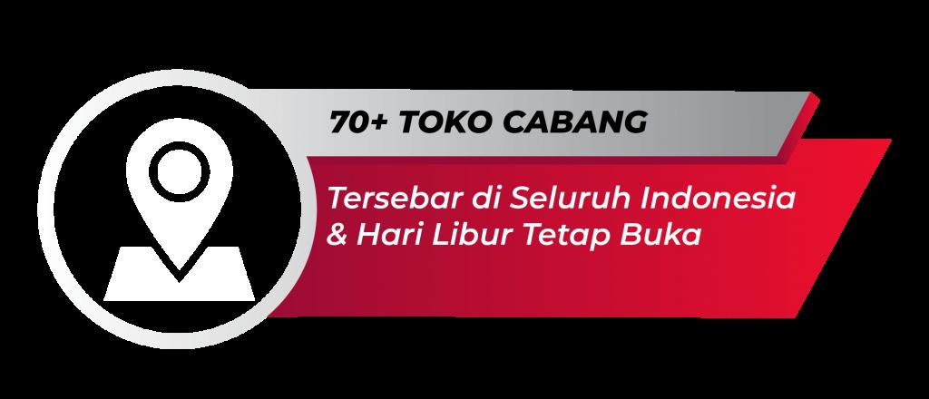 70+ Toko Cabang
