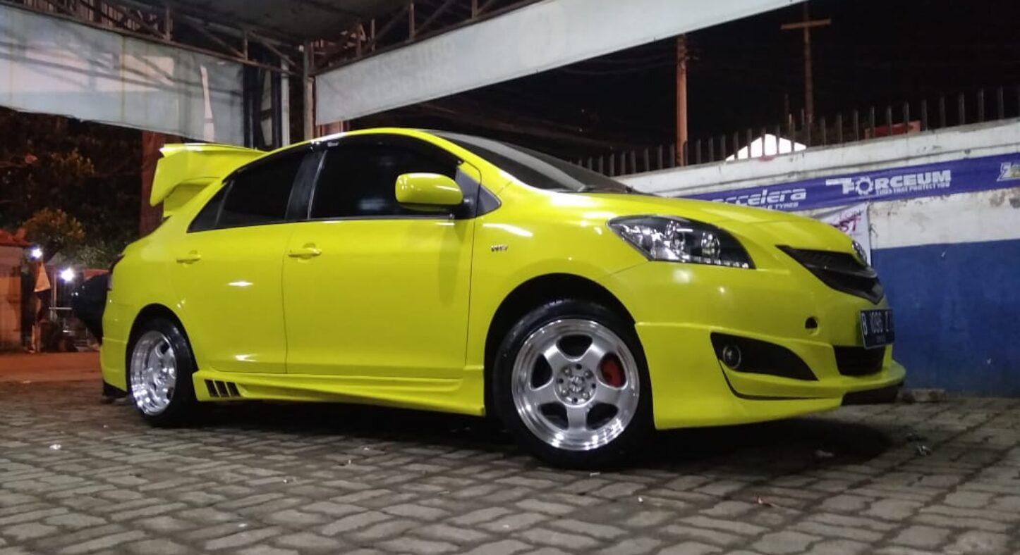 Vios Menggunakan Velg Hsr Brisket R16 Modifikasi Toyota Banzai Rims