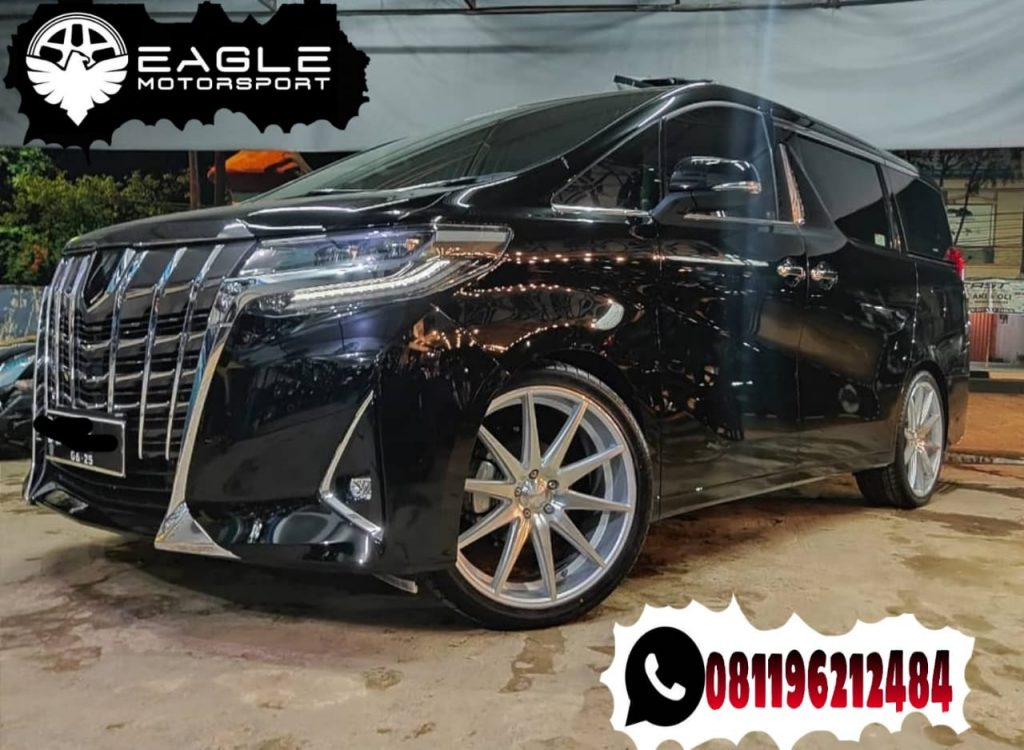 Modifikasi Velg Mobil Alphard Ring 22 HSR Technik