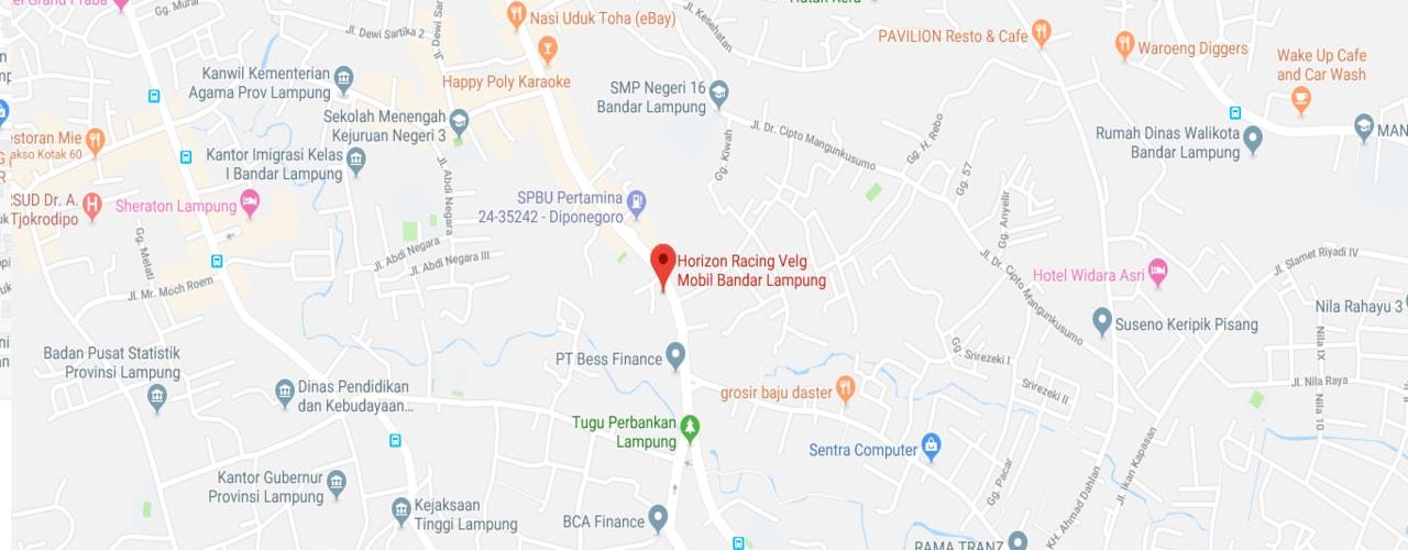 Map Lokasi Horizon Racing Lampung