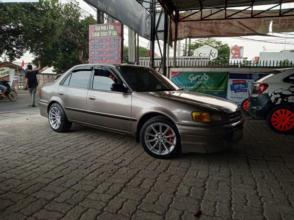 Modifikasi Toyota Corolla Pakai Velg HSR tipe HUSTLER R16 Di Cikarang Jawa Barat