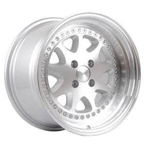 HSR Bavaria JD9016 Ring 16x8-9 H4x100 ET30 25 Silver Machine Face Lip