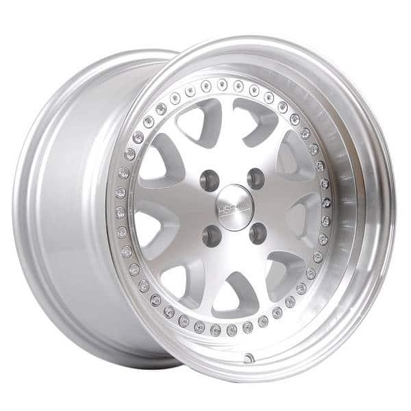 HSR Bavaria JD9016 Ring 16x8-9 H4x100 ET30-25 Silver Machine Face & Lip