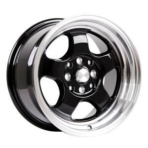 HSR Brisket JD5290 Ring 15x7-8 H8x100-114,3 ET40-33 Gloss Black Machine Lip