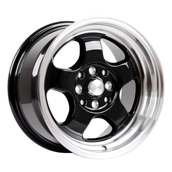 HSR Brisket JD5290 Ring 15x7-8 H8x100-114,3 ET40-33 Gloss Black Machine Lip