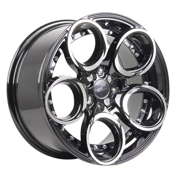 HSR Circle L1539 Ring 17x7,5-85-H8x100-114,3 ET40 35 Black Machine Face
