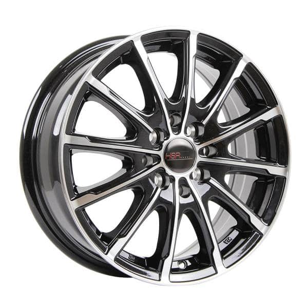 HSR Diplomatic JD5307 Ring 15x6 H8x100-114,3 ET45 Black Machine Face