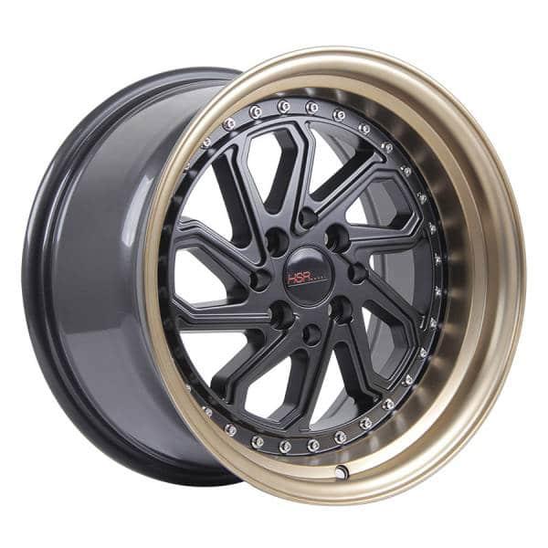 HSR Dobo JD215 Ring 15x8-9 H8x100-114,3 ET30-25 Black Bronze Lip