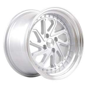 HSR Dobo JD215 Ring 16x8-9 H4x100 ET30-25 Silver Machine Lip
