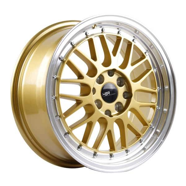 HSR Lemans 306 Ring 16x7 H8x100-114,3 ET38 Gold Machine Lip