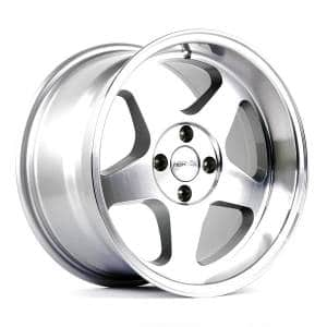 HSR Loud JD805 Ring 16x8-9 H4x100 ET35-30 Silver Machine Face Lips