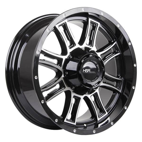 HSR Matador L1856 Ring 20x9 H6x139,7 ET12 Black Machine Face3
