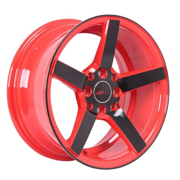 HSR NE3 JD265 Ring 15x7 H8x100-114,3 ET30 Red Rim + Black Face3