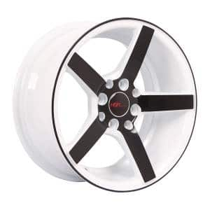 HSR NE3 JD265 Ring 15x7 H8x100-114,3 ET30 White Rim + Black Face3
