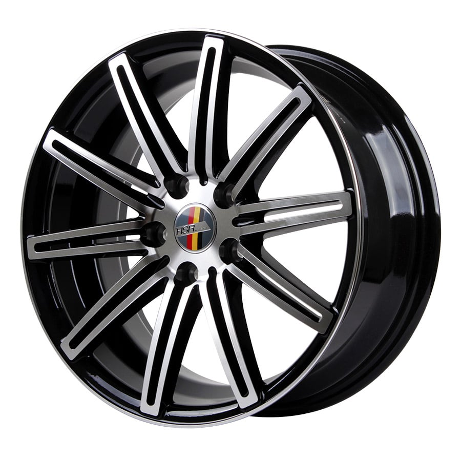 HSR Ne4 10553 Ring 17x7,5 H5x112 ET40 Black Machine Face1