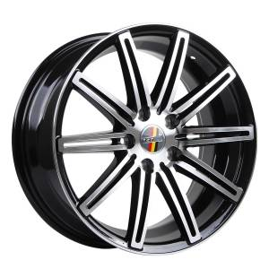 HSR Ne4 10553 Ring 17x7,5 H5x112 ET40 Black Machine Face3