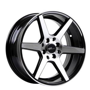 HSR Ne6 60753 Ring 16x7 H8x100-114,3 ET30 Black Machine Face3