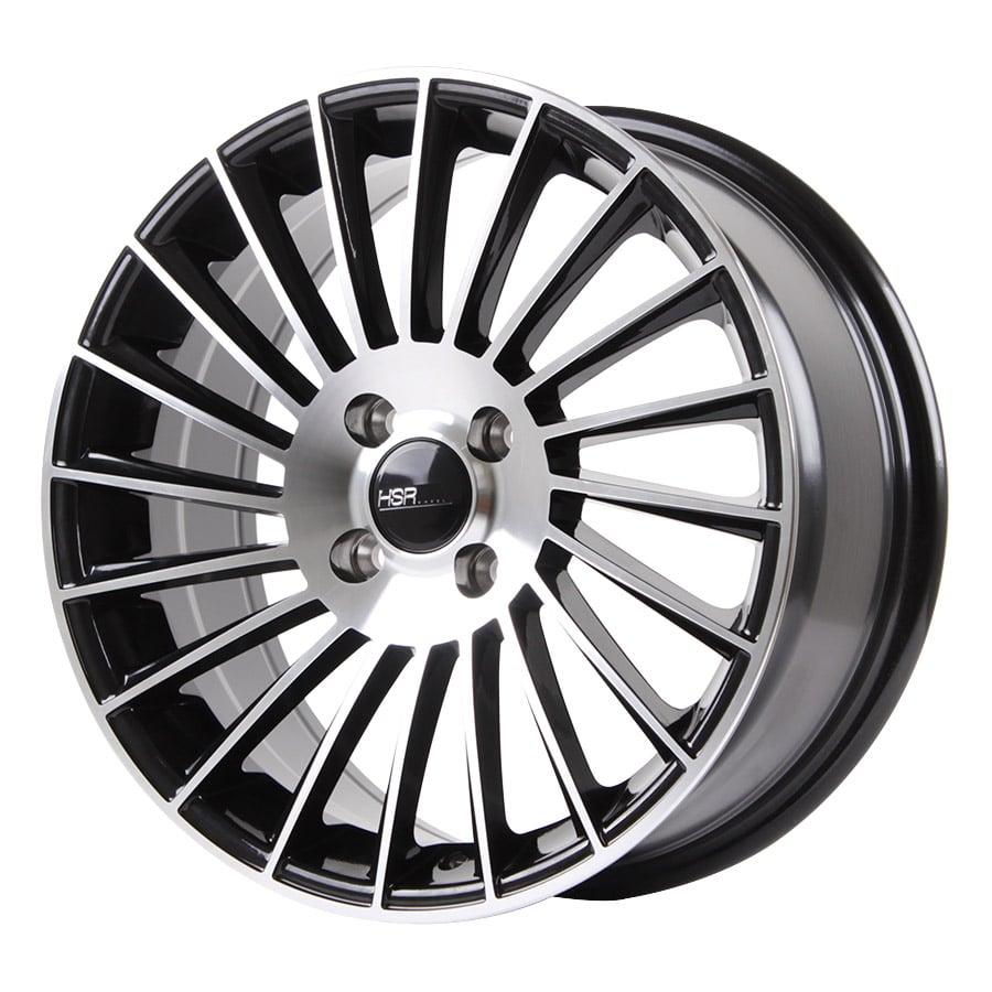 HSR Numfor 1013 Ring 16x7 H4x100 ET40 Black Machine Face (2)