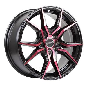 HSR Vital JD5270 Ring 16x7 H8x100-114,3 ET40 Black Machine Face Red Coating3