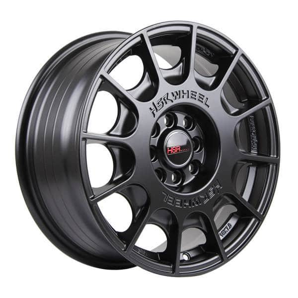 HSR WRC 1075 Ring 16x7 H8x100 1143 ET45 Semi Matte Black