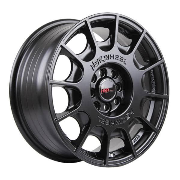 HSR WRC 1075 Ring 16x7 H8x100 1143 ET45 Semi Matte Black