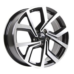 HSR Wender 754 Ring 18x7,5 H5x114,3 ET45 Black Machine Face
