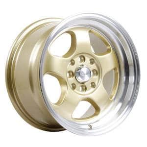 HSR Brisket JD5290 HSR Ring 15x7-8 H8x100-114,3 ET40-33 Gold Machine Lip