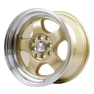 HSR Brisket JD5290 HSR Ring 15x7-8 H8x100-114,3 ET40-33 Gold Machine Lip
