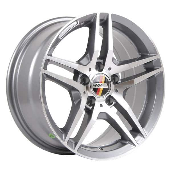 HSR Berlin AM197 Ring 16x7,5 H5x112 ET35 Grey Machine Face