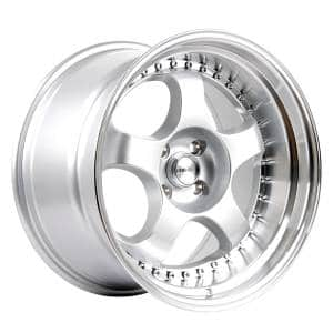 HSR Brisket L1228 Ring 17x9 10-H4x100 ET20-18 Silver Machine Lip