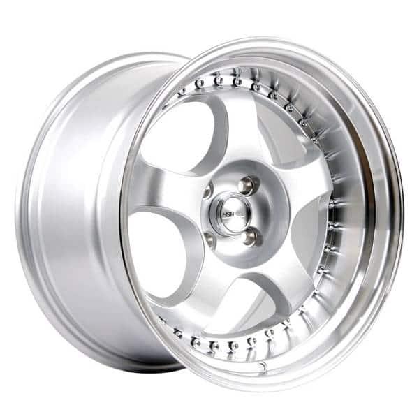 HSR Brisket L1228 Ring 17x9 10-H4x100 ET20-18 Silver Machine Lip