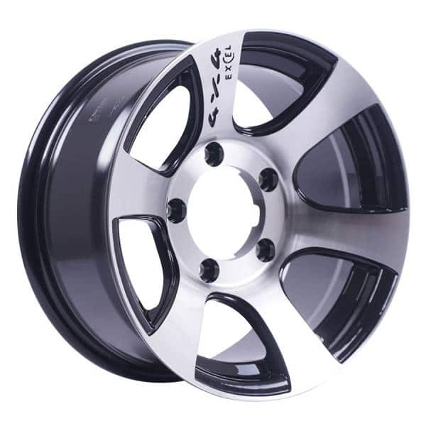 HSR Deus JD6058 HSR Ring 15x7 H5x139,7 ET-10 Black Machine Face