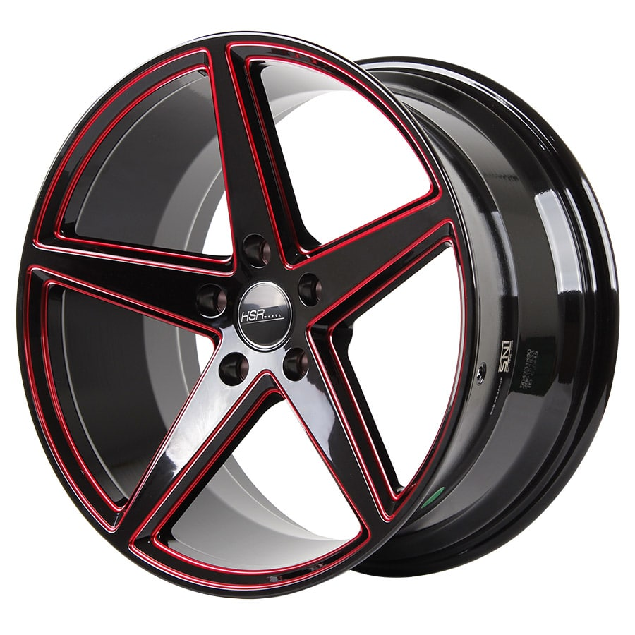 HSR Lugqno 50423 Ring 18x8-9 H5x114,3 ET40 Black Red Milling (2)