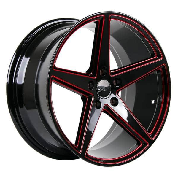 HSR Lugqno 50423 Ring 18x8-9 H5x114,3 ET40 Black Red Milling