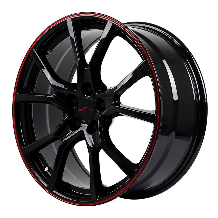 HSR Misato 10613 Ring 20x8,5 H5x114,3 ET42 Black Red (2)