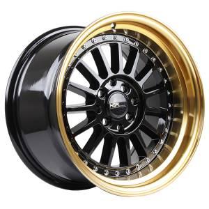 HSR Namlea JD216 Ring 15x8-9 H8x100-114,3 ET30-25 Black Gold Lip
