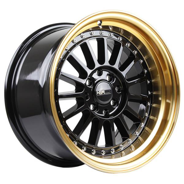 HSR Namlea JD216 Ring 15x8-9 H8x100-114,3 ET30-25 Black Gold Lip