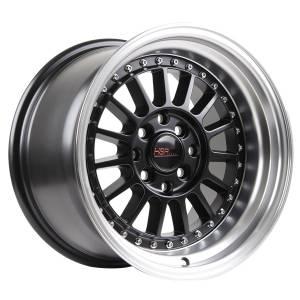 HSR Namlea JD216 Ring 15x8-9 H8x100-114,3 ET30-25 Semi Matte Black Machine Lip