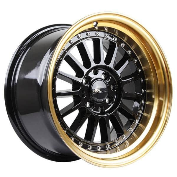 HSR Namlea JD216 Ring 16x8-9 H8x100-114,3 ET30-25 Black Gold Lip