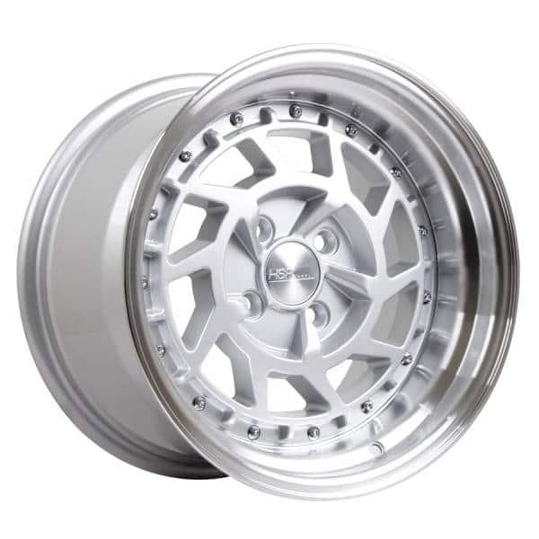 HSR Namrole JD217 Ring 15x8-9 H4x100 ET30-25 Silver Machine Lip