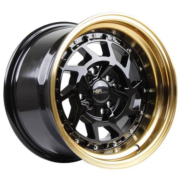 HSR Namrole JD217 Ring 15x8-9 H8x100-114,3 ET30-25 Black Gold Lip