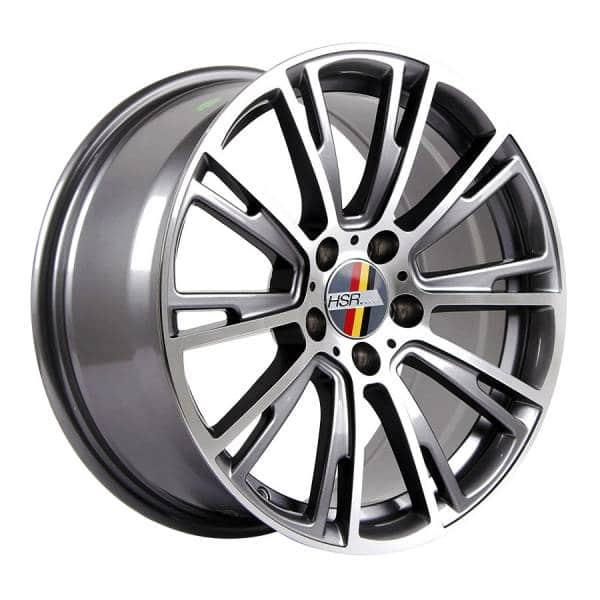HSR Nancy 12303 Ring 17x8 H5x112 ET35 Grey Machine Face