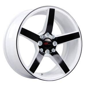 HSR Ne3 JD265 Ring 16x7 H8x100-114,3 ET30 White Rim Black Face1