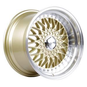 HSR RS JD35 Ring 16x8-9 H8x100 114,3 ET37 20 Gold Machine Lip