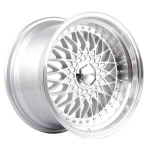HSR RS JD35 Ring 16x8 9 H8x100-114,3 ET37-20-Silver Machine Lip