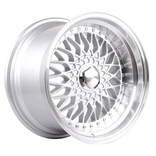 HSR RS JD35 Ring 16x8 9 H8x100-114,3 ET37-20-Silver Machine Lip
