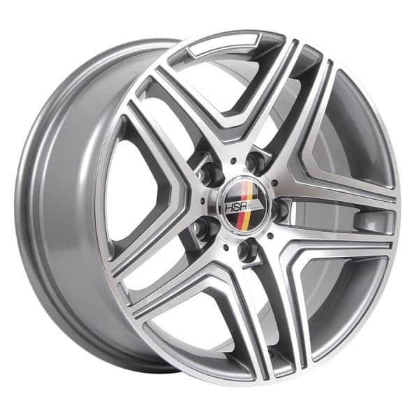 HSR Rostock ML AM206 Ring 16x7,5 H5x112 ET35 Grey Machine Face