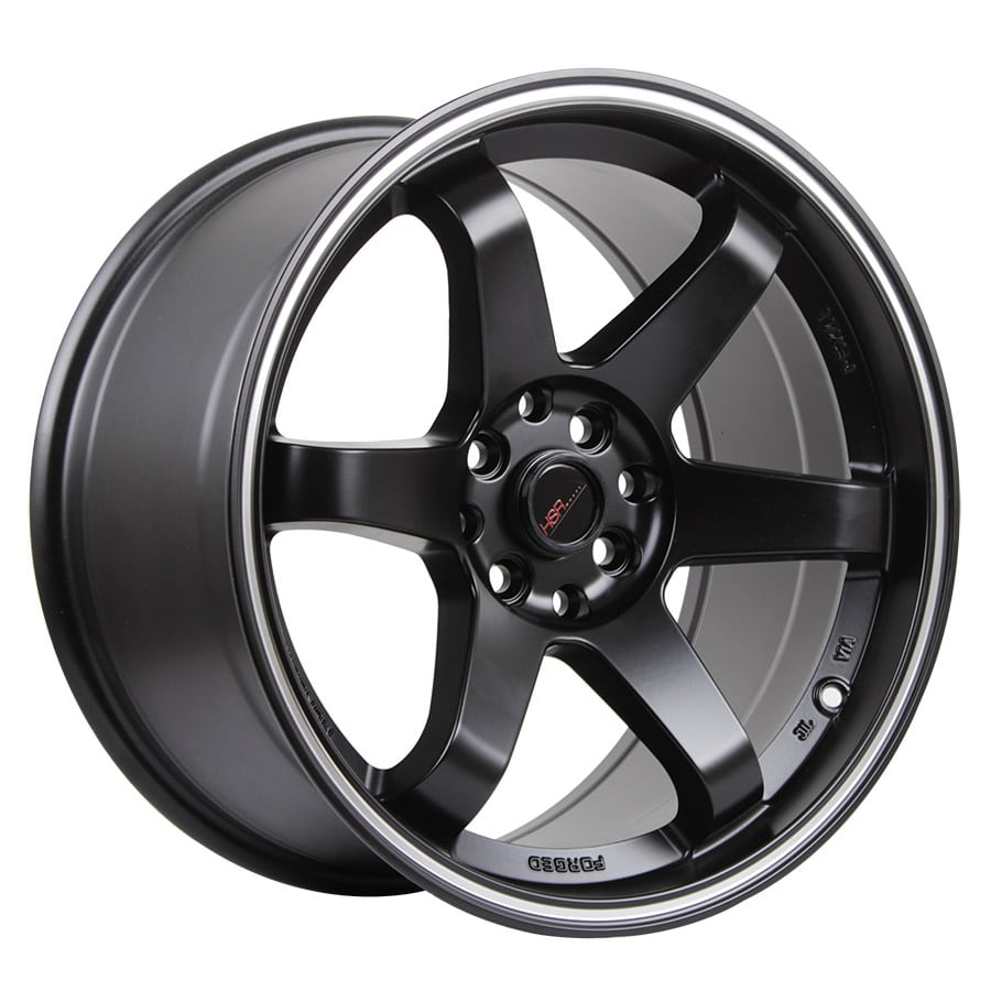 HSR Tokyo Oshu JD37 Ring 17x7,5-9 H8x100-114,3 ET42-35 Semi Matte Black Machine Ring