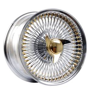 HSR Wire Wheels DS78 FWD 16X8 H12X100-108-114,3 ET0 Chrome Gold