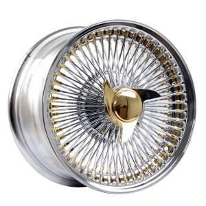 HSR Wire Wheels DS78 FWD 16X8 H12X100-108-114,3 ET0 Chrome Gold